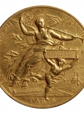 MEDAILLE MODERNE - JULES-CLEMENT CHAPLAIN, Exposition Universelle, Paris, 1878. Médaille en or (revers).