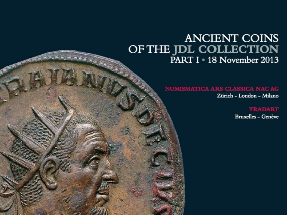 VENTE AUX ENCHERES - Tradart N° 18. Ancient Coins of the JDL Collection Part I. Zürich 13 novembre 2013.