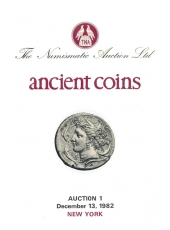 VENTE AUX ENCHERES - Tradart N° 1. The Numismatic Auction LTD. Ancient Coins. Auction 1. New York 13 décembre 1982